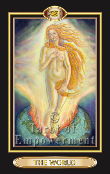 The World Card - Tarot of Empowerment Deck