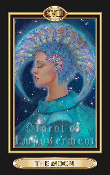 The Moon Card - Tarot of Empowerment Deck