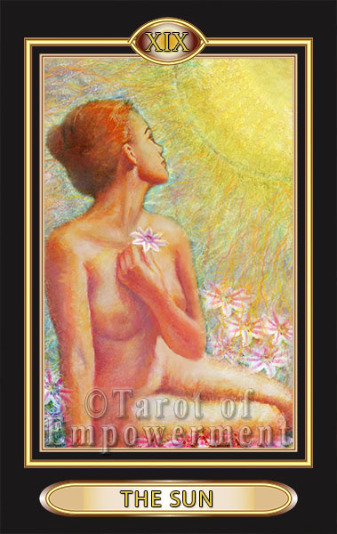 The Sun Card - Tarot of Empowerment Deck