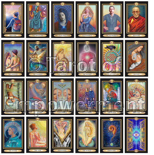 The Major Arcana - Tarot of Empowerment Deck